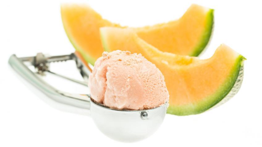 Cremiges Cantaloupe-Melone Sorbet
