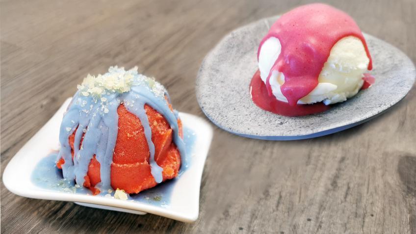 Knackige Bunte Eis-Glasur